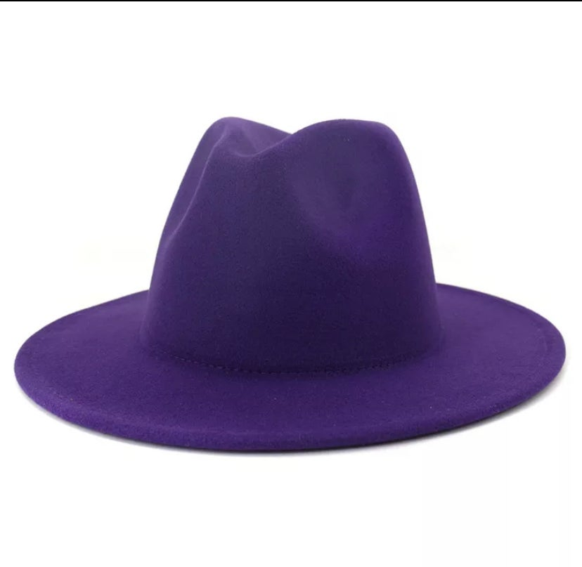 Image of Solid purple fedora