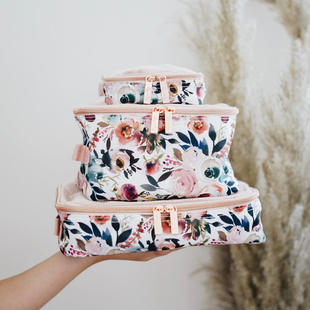 Image of Floral Blush Packing Cubes Set of 3