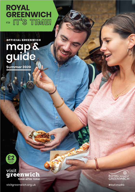 Image of Greenwich Map & Guide: Royal Greenwich - It's Time! Summer 2020