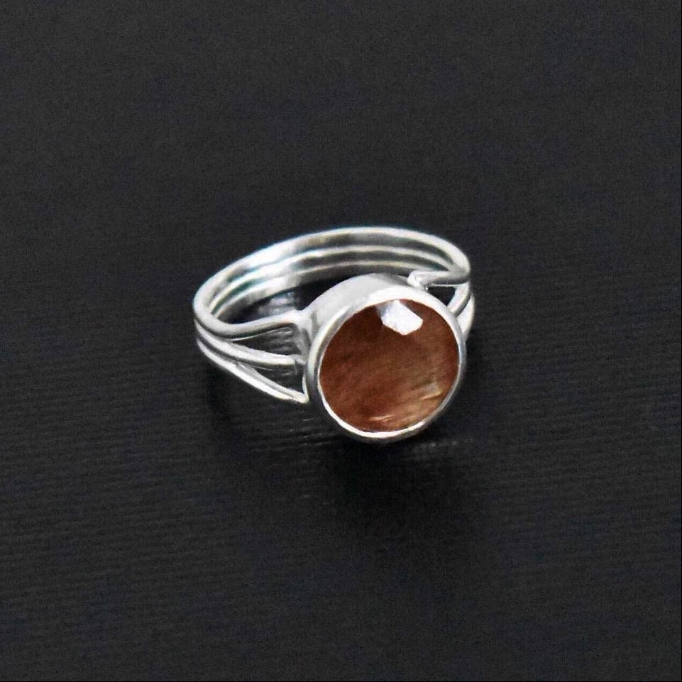 Image of Dragon Claws x Red Rutilated Quartz silver ring