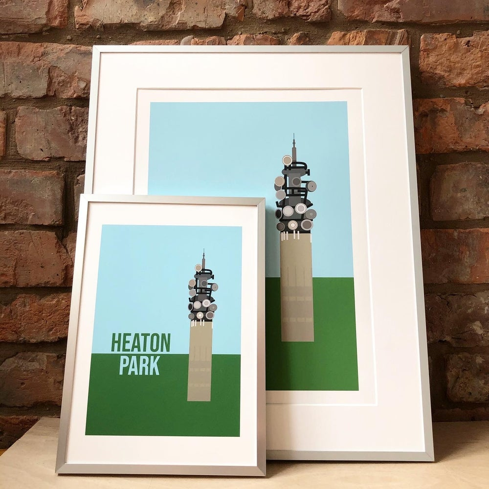 Image of HEATON PARK ART PRINT by fingsMCR