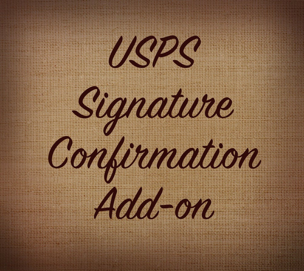 Image of Signature Confirmation Through USPS