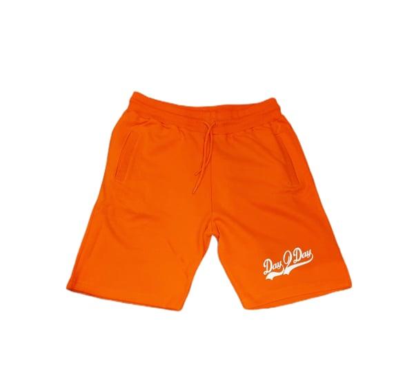 Orange/White Sweat Shorts