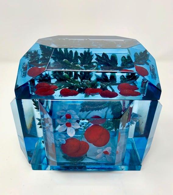 Image of Mini Victorian Painted Cherries Box