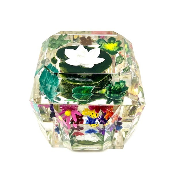Image of Petite Painted Lotus Flower Box