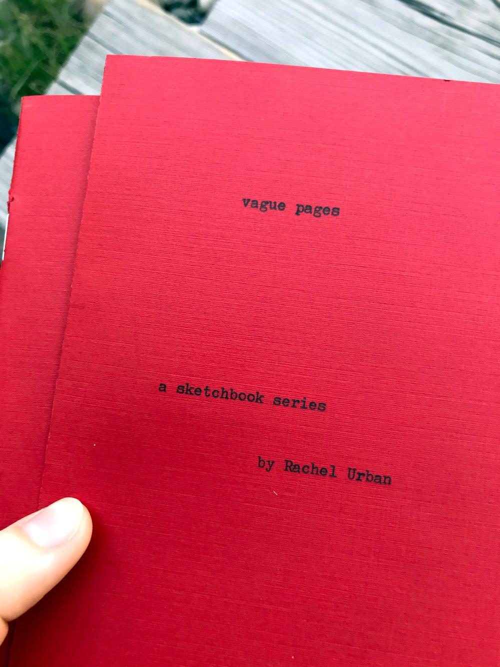 Image of Vague Pages ~ sketchbook series book