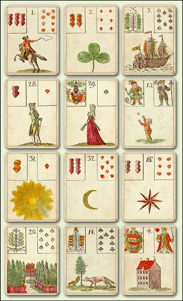 Image of Game of Hope Lenormand Cards, c.1799