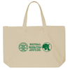 Culture Education Tote Green on Natural