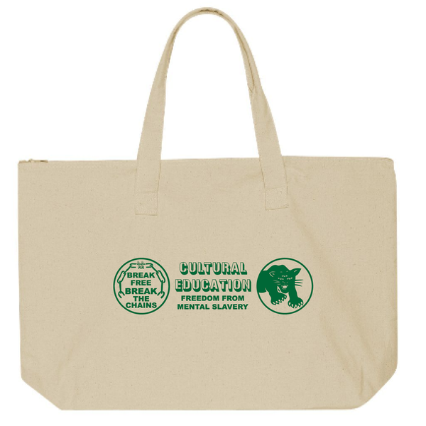 Image of Culture Education Tote Green on Natural