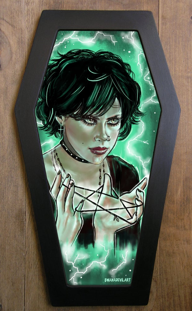 Image of Nancy (The Craft) Limited Edition Coffin Framed Art Print