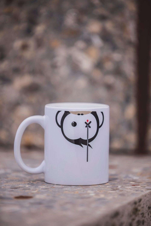 Image of Monkey Climber Facedown mug I White