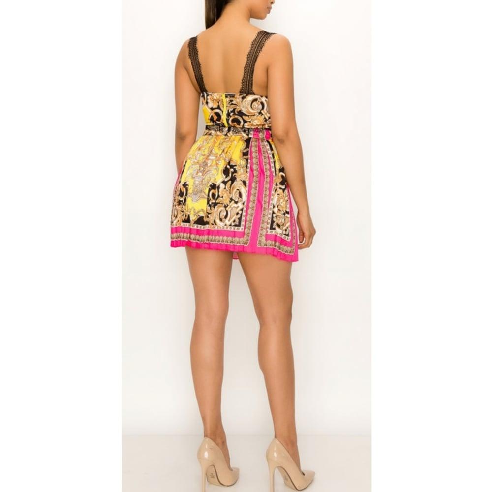 Image of Baroque Print Skirt Set