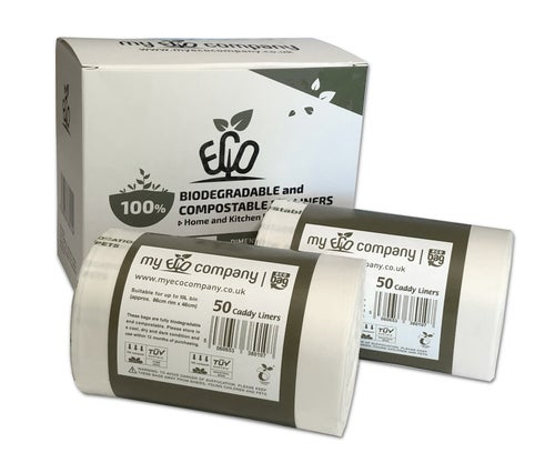 Image of 10 Litre Biodegradable & Compostable Food Waste Bin Bags  - 100 Caddy Liners