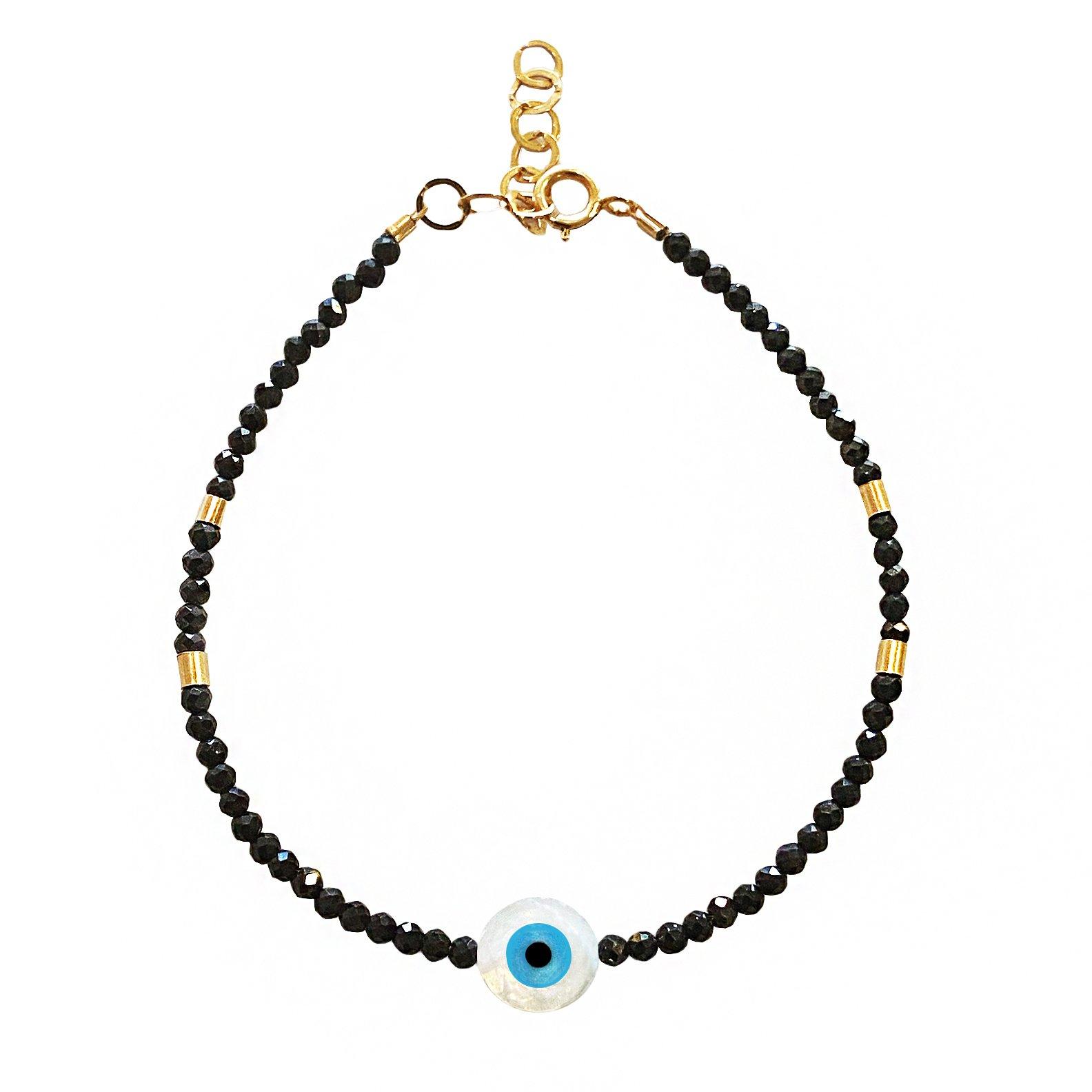 Goldfilled spinel bracelet
