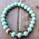 Aqua Cat Eye Women's Bead Bracelet