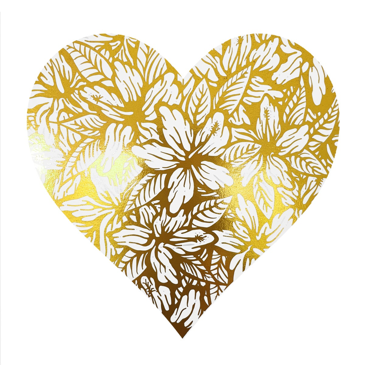 Image of A Little Love V' & 'A Little Kiss V' in Gold