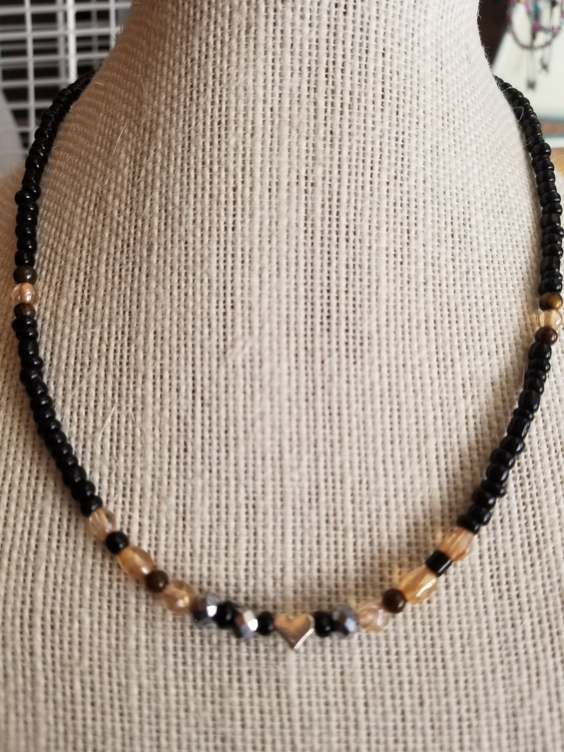 Image of Tiger Eye Love Necklace