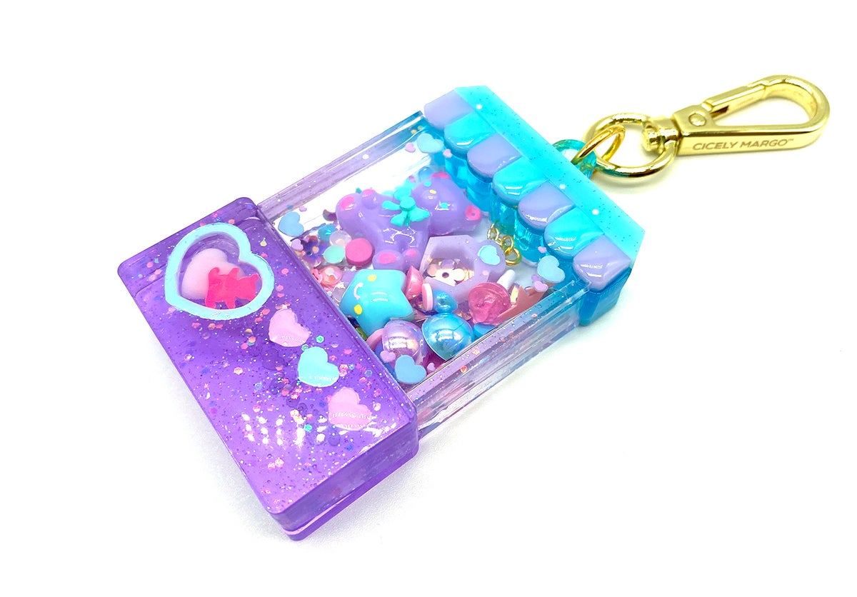 Image of Candylicious Crane Game Bag Charm - Blue & Lavender
