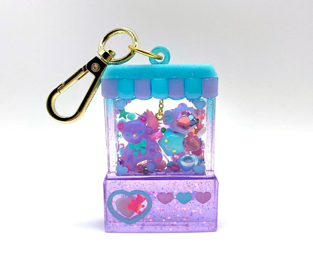 Image of Candylicious Crane Game Bag Charm - Blue & Lavender