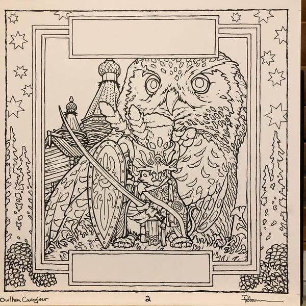 Image of Owlhen Caregiver Page 2 Original Art