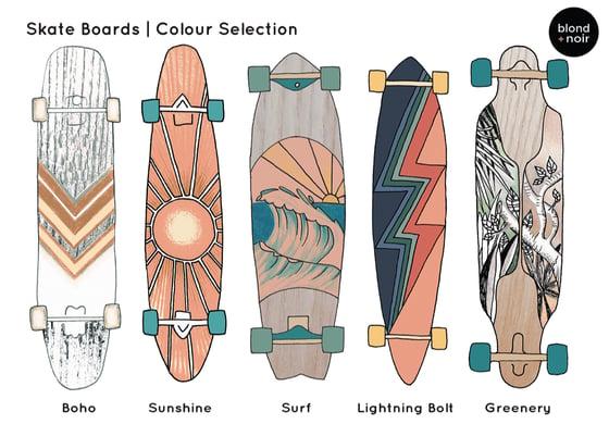 Image of Retro Skateboard Decals