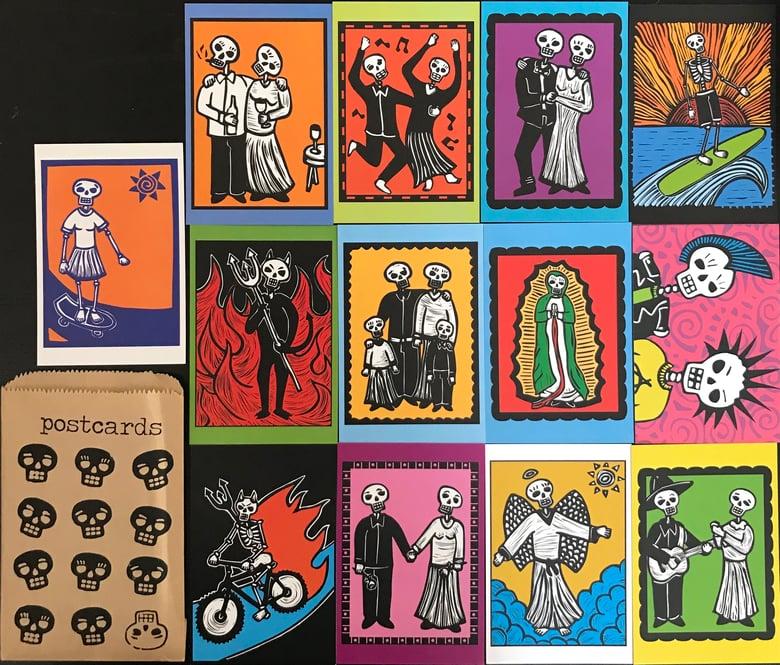 Image of Dia de Los Muertos Postcard set