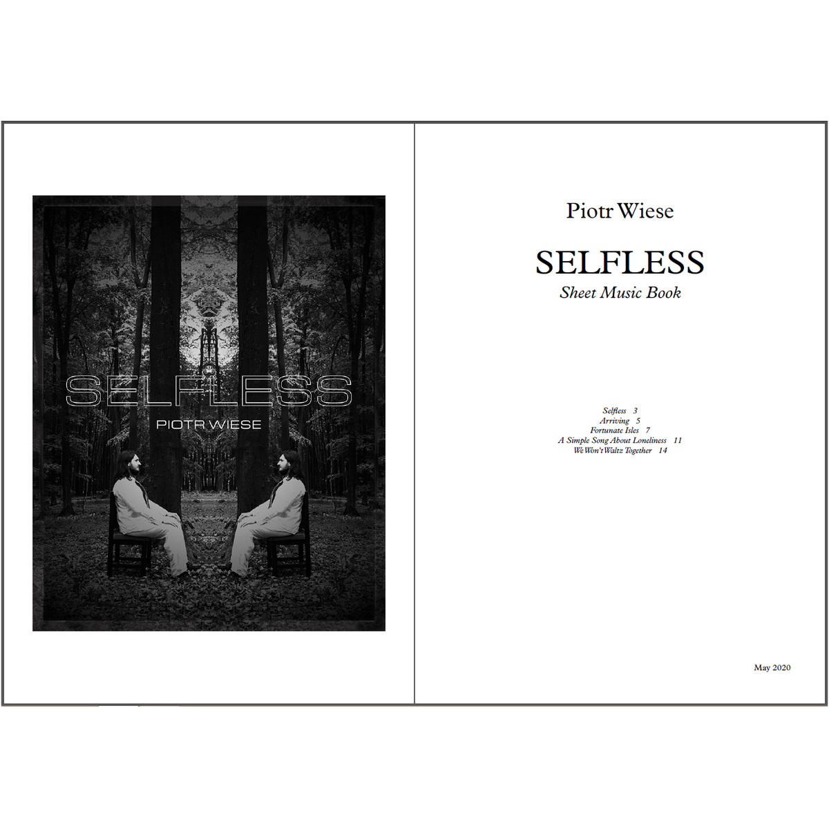 Selfless EP Sheet Music Book (PDF)