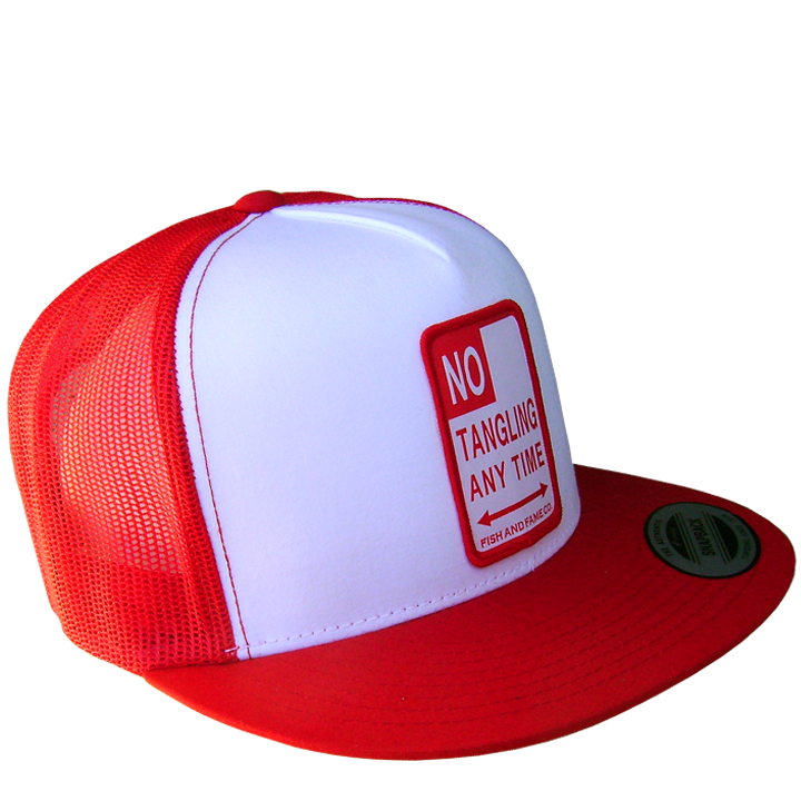 Image of NO TANGLING Trucker (red/white)