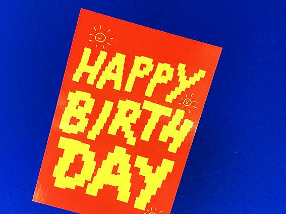 Image of POSTKARTE Happy Birthday :)