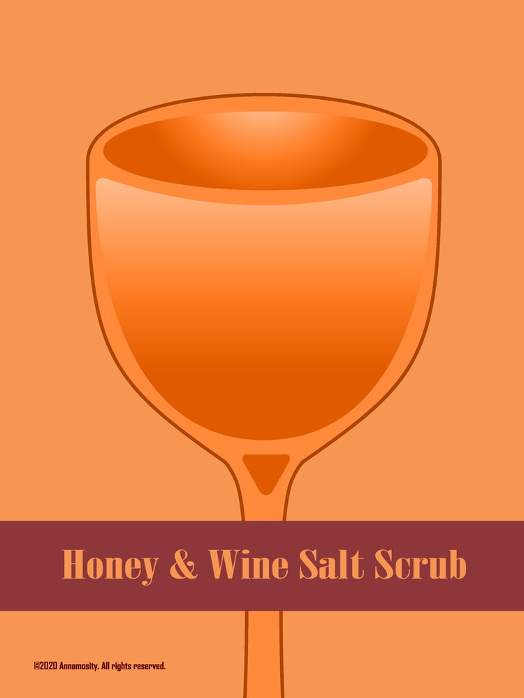 Image of Honey & Wine - Salt Scrub