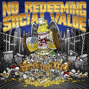 "Image of NO REDEEMING SOCIAL VALUE ""Wasted For Life"" CD"