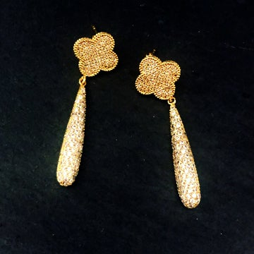 Image of Clover Pave Earrings