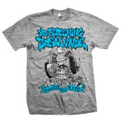 "Image of NO REDEEMING SOCIAL VALUE ""Wasted For Life"" Gray T-Shirt"