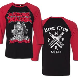 "Image of NO REDEEMING SOCIAL VALUE ""Wasted For Life Brew Crew"" 3/4 Sleeve Jersey"