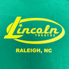Lincoln Oval logo front / state logo back (yellow on green)