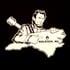 Lincoln Oval logo / state logo back (white on black) Image 2
