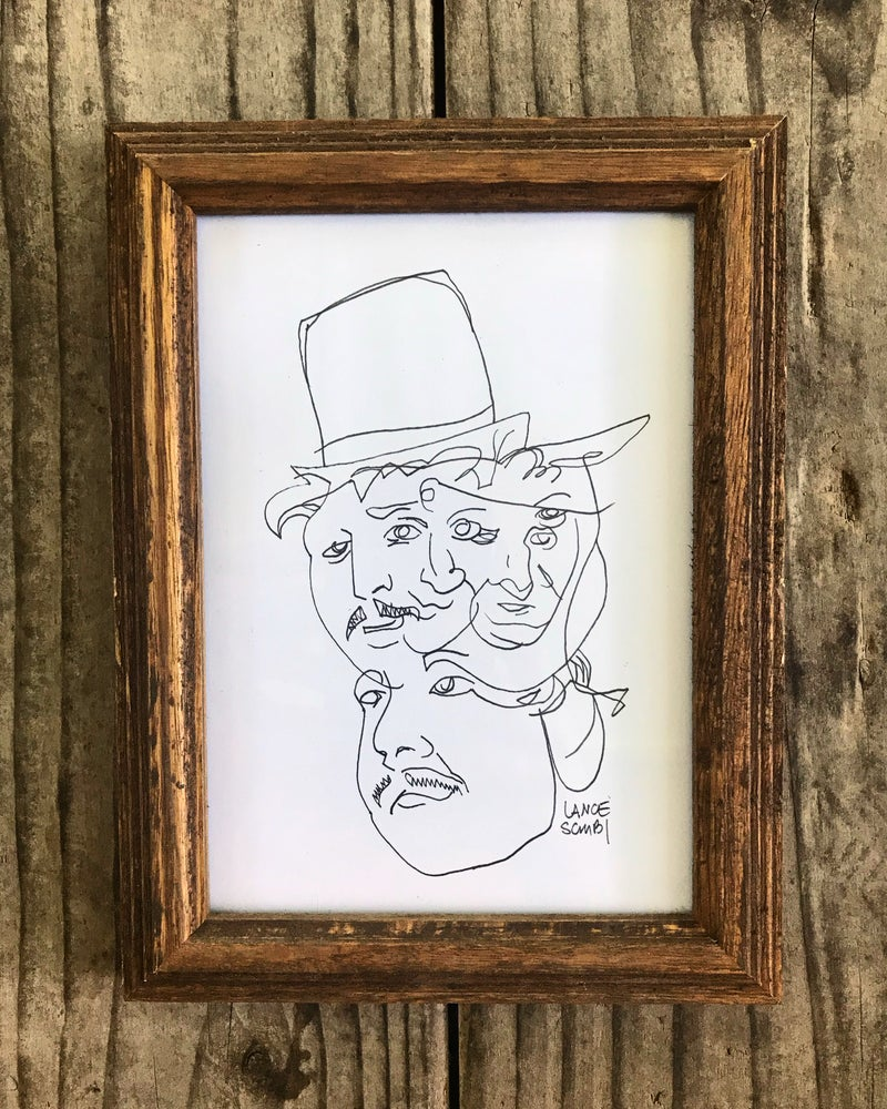Image of Original Willy Wonka Multi-face FRAMED
