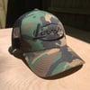 Lincoln Oval Camo Trucker  hat