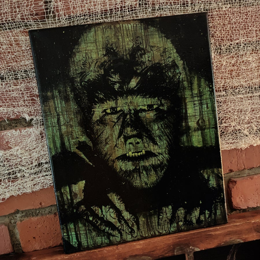 Image of Wolfman Painting