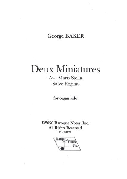 Image of Deux Miniatures PDF only
