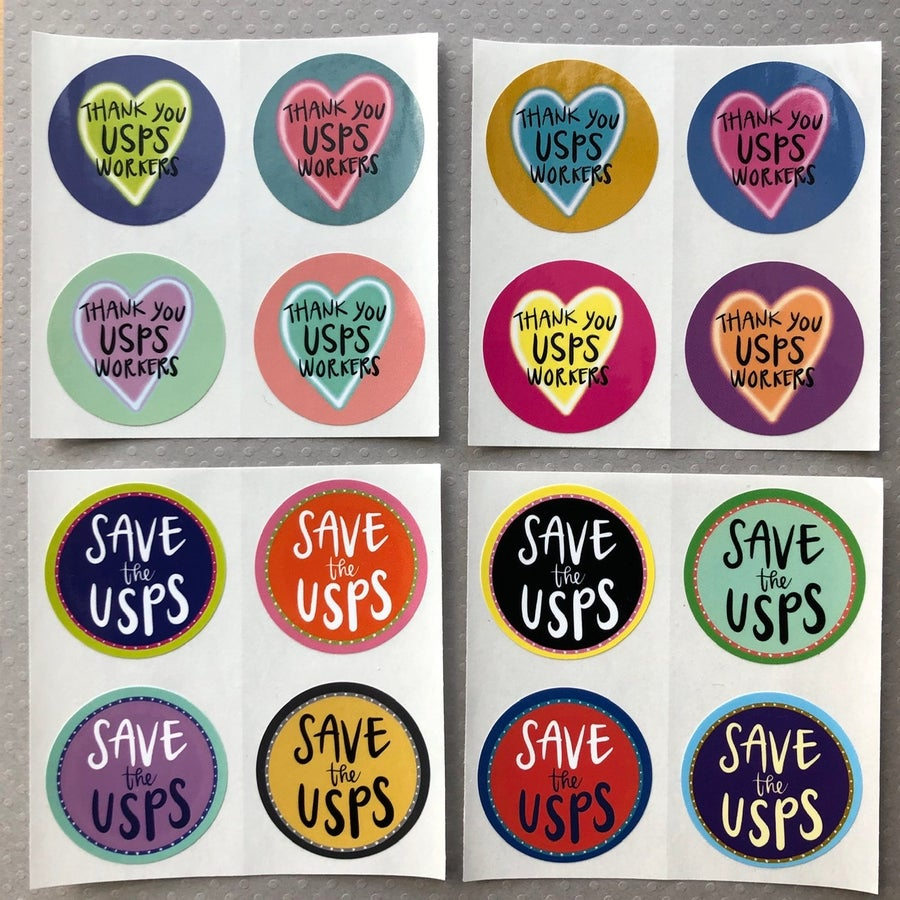 Image of save the USPS sticker pack