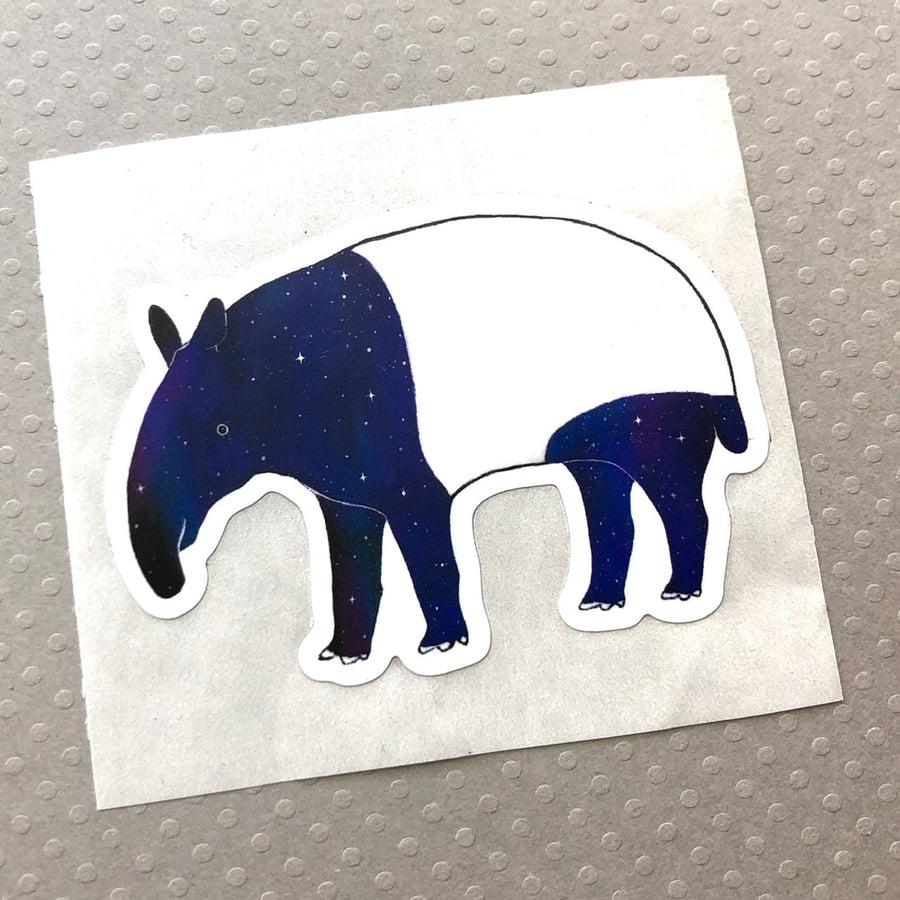 Image of space tapir sticker