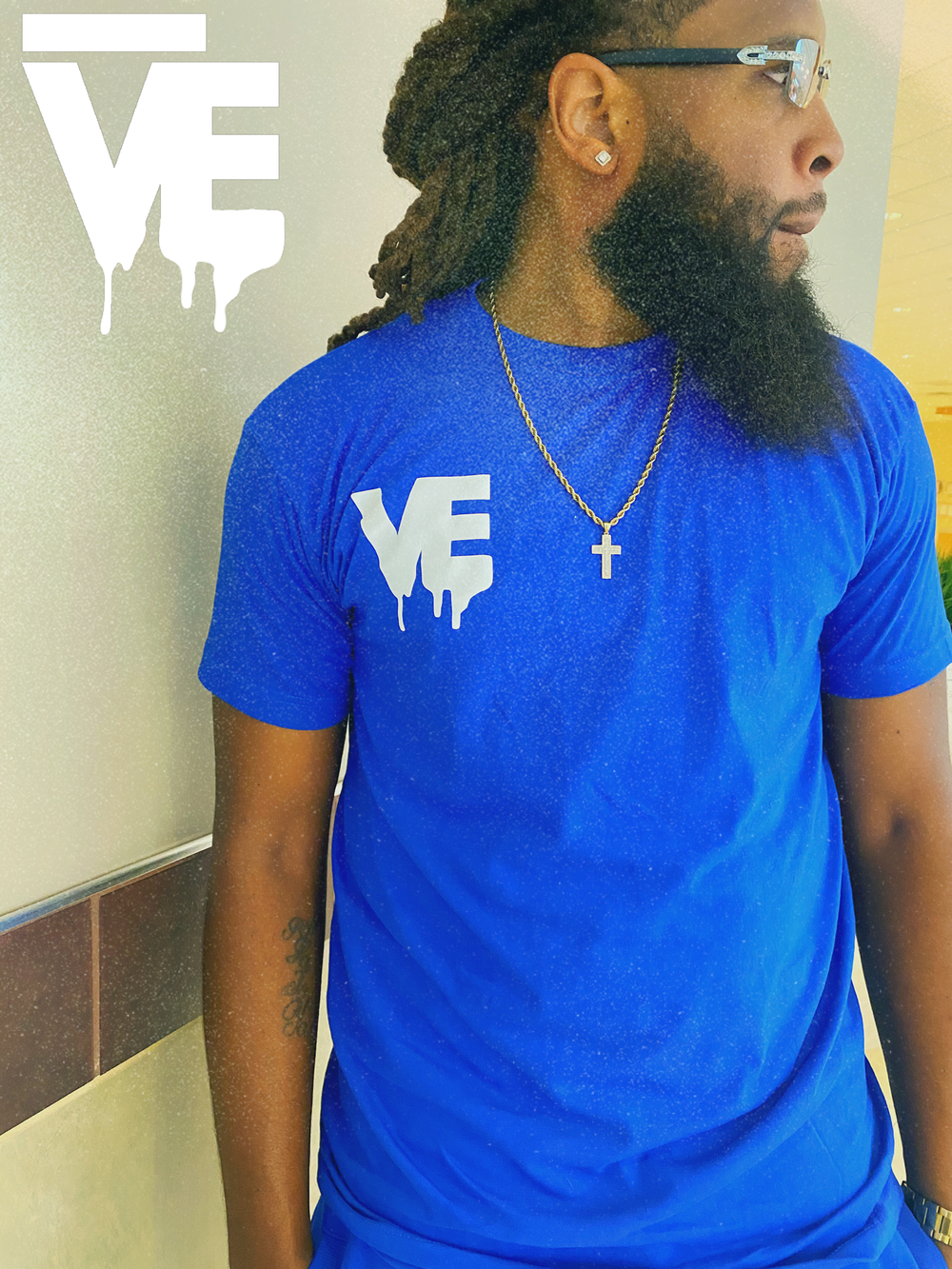 Image of Men's Nipsey Blue VE Logo Short Set
