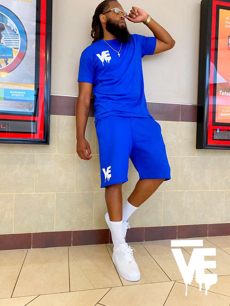 Image of Men's Nipsey Blue VE Logo Short Set