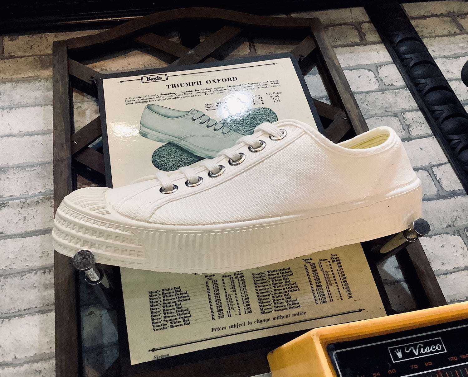 Image of Novesta master white canvas lo top sneaker shoes made in Slovakia