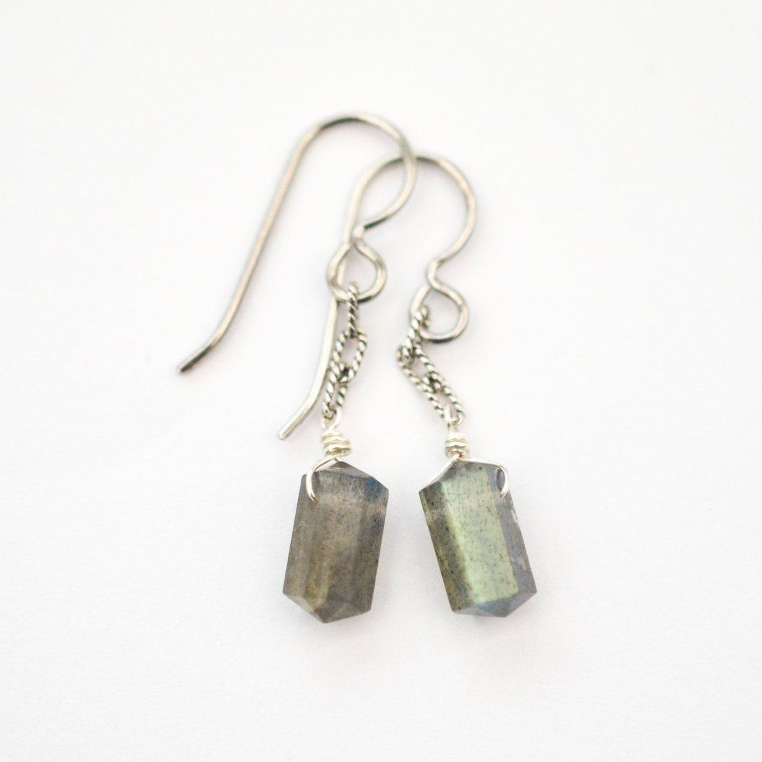 Image of Labradorite Spike Earrings