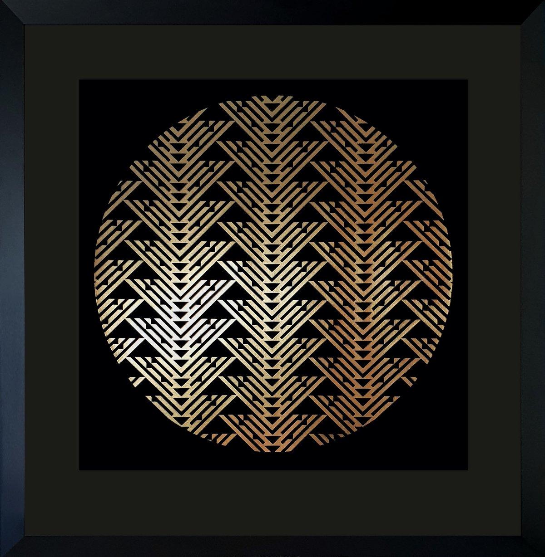 Image of 'Navigation' Limited Edition gold foil screenprint - Only 2 left