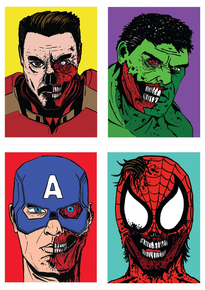 Image of Marvel Zombies Set Of 4 Signed A5 Prints