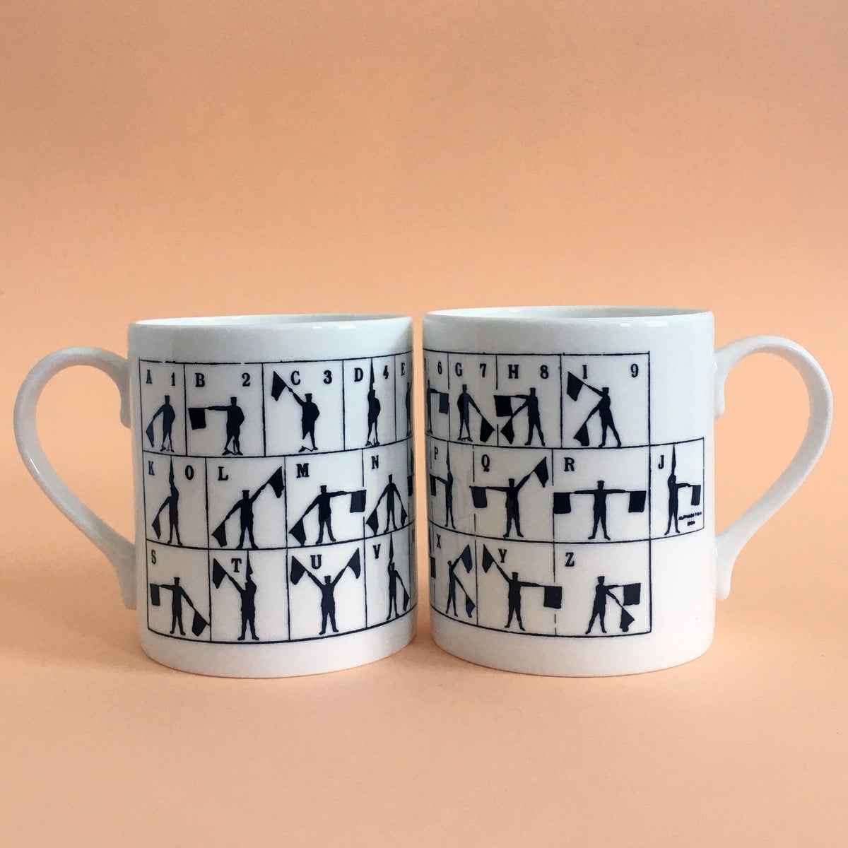 Image of Semaphore mug - Set of two