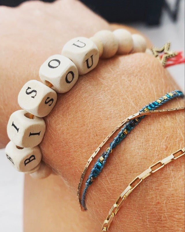 Wooden Bead Bangles - BISOU